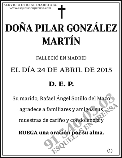 Pilar González Martín